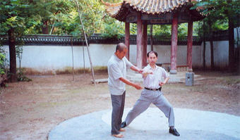 Qichen Guo learning in Chen Village